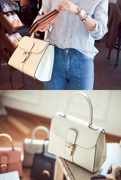 Gold Buckle Handbag