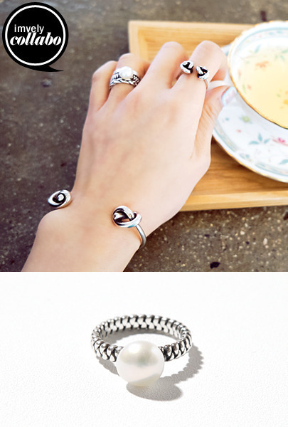 [IMVELY X IMFRICA] Silver Tone Assorted Design Ring
