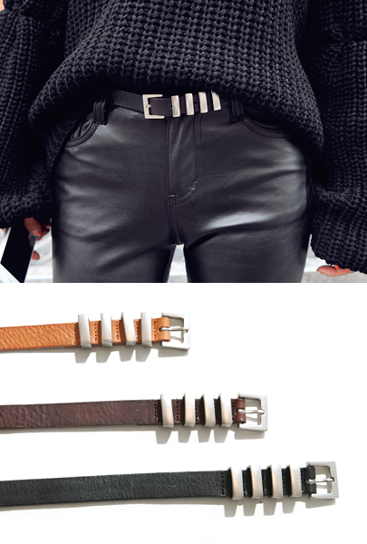 Four Loop Buckled Belt