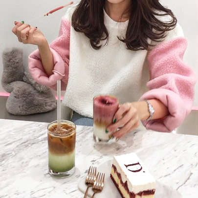 Pink Fleece Sweater