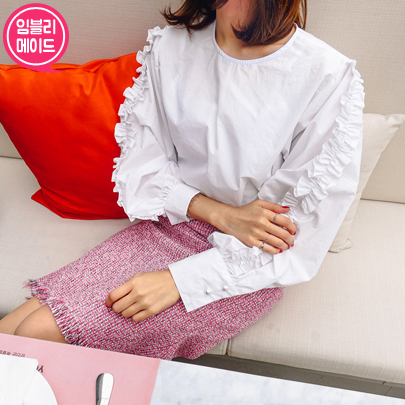 Frilly Sleeves Blouse