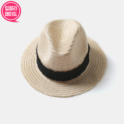 [VELYSOME] Contrast Band Panama Hat