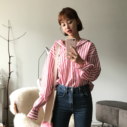 Striped One Pocket Shirt