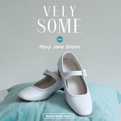 White Mary Jane Flat Shoes