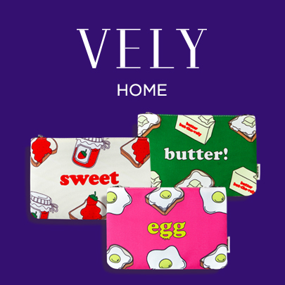 [VELYHOME] Food Theme Printed Pouch