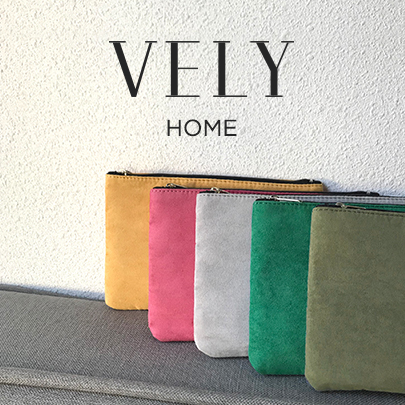 [VELYHOME] Zip Top Solid Tone Pouch