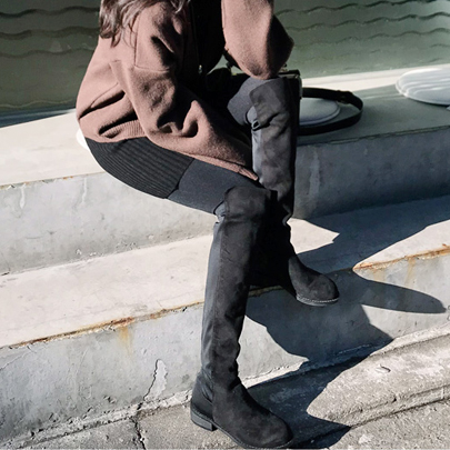Pull On Knee High Boots