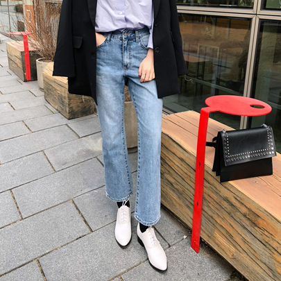 High Rise Ankle Grazer Jeans