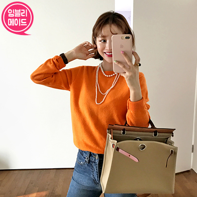 Round Neck Extended Sleeve Sweater