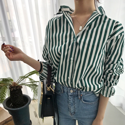 Button-Up Stripe Shirt