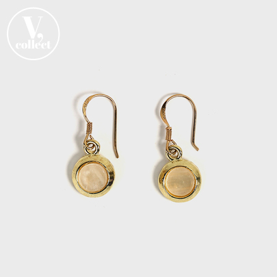 [V,Collect] Gold-Tone Charm Hook Earrings