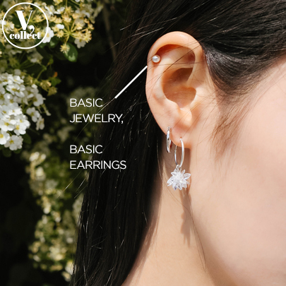 [V,Collect] Pearl Stud Earring Set