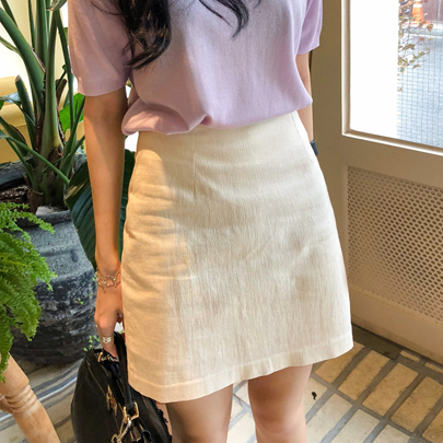 Mini Cotton Blend Skirt