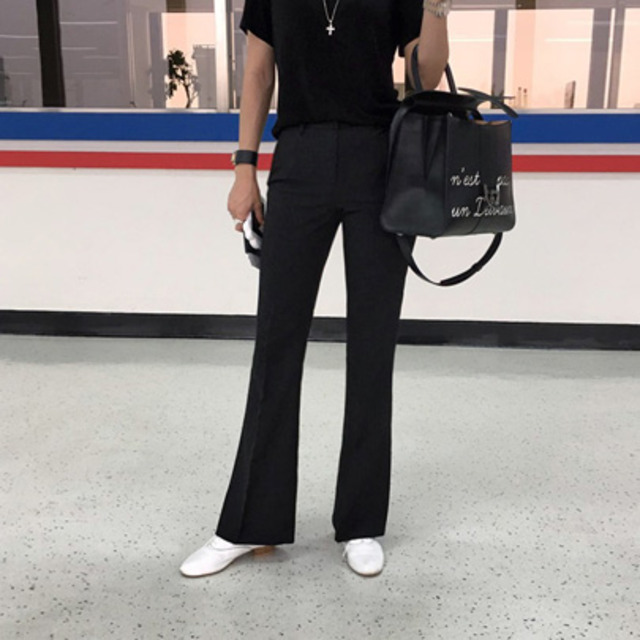 [LONDON SLACKS] Slim Fit Boot Cut Slacks