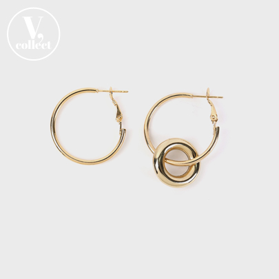 [V,Collect] Unbalanced Hoop Earrings