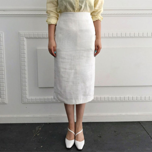Straight-Cut Midi Skirt