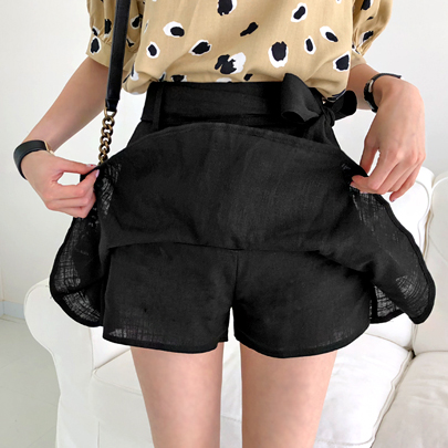 Self-Tie Ribbon Skort