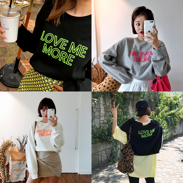 Slogan Applique Drop Shoulder Sweatshirt