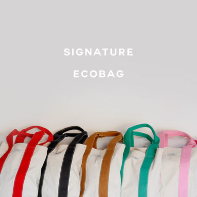 [VELYHOME]Contrast Strap Canvas Eco Bag