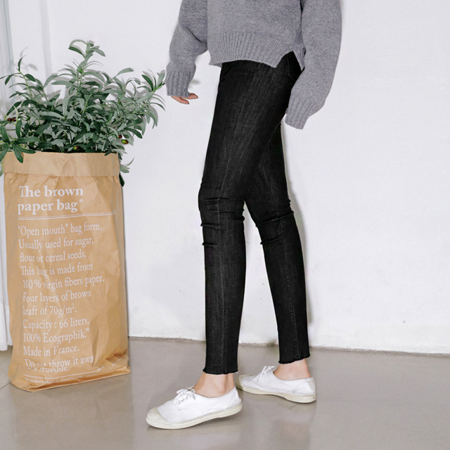 [THX,V] NO.705 Raw Hem Super Skinny Jeans