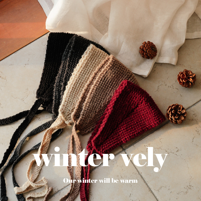 [WINTER VELY] Self-Tie Knit Headband