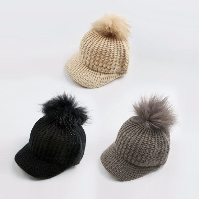 Detachable Fur Knitted Cap