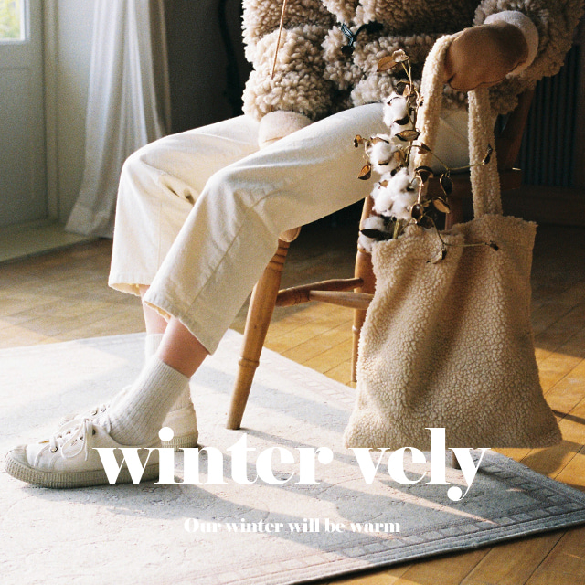 [WINTER VELY] Sherpa Fleece Tote Bag