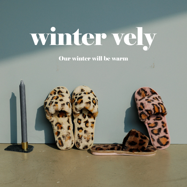[WINTER VELY] Animal Pattern Fuzzy Slippers