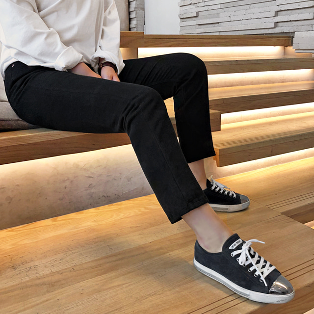 Lined Straight-Cut Pants