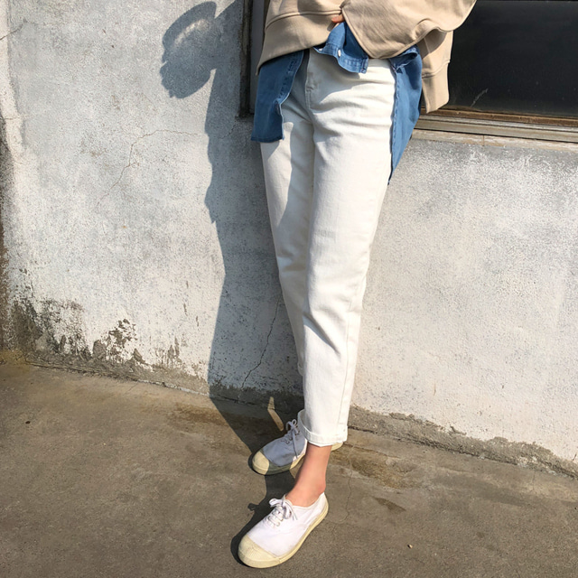 Ivory Tone Straight Pants
