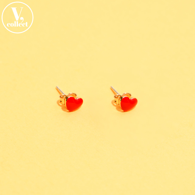 [V,Collect] Heart Stud Earrings