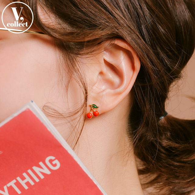 [V,Collect] Cherry Stud Earrings