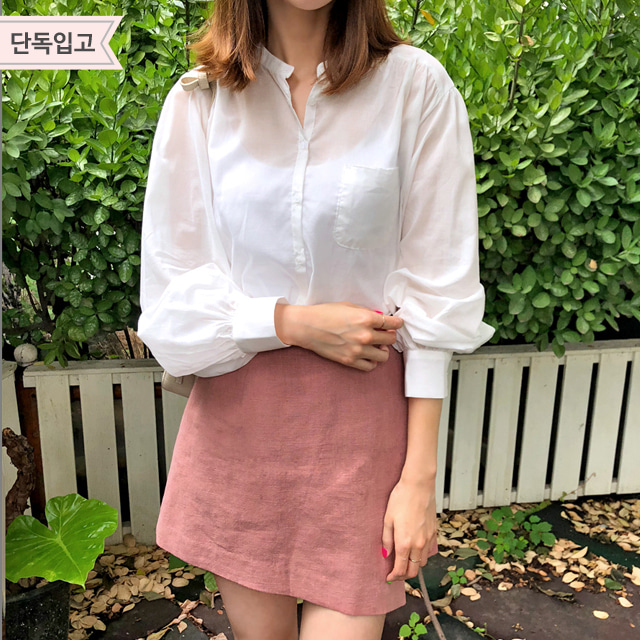 Ivory-Toned Button-Front Blouse