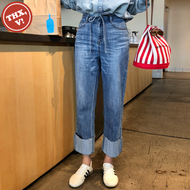[THX,V] NO.901 Whiskered Rolled Hem Jeans