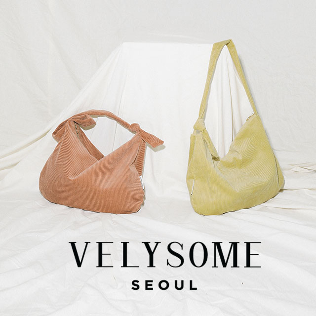 [VELYSOME] Corduroy Hobo Bag