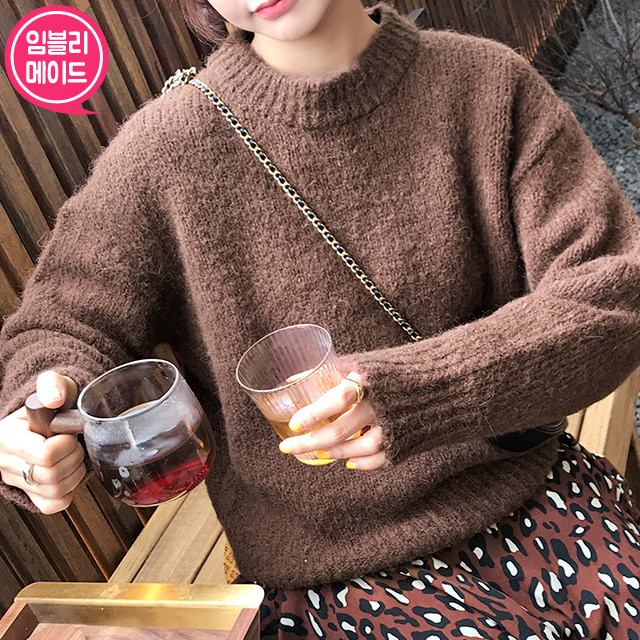 Round Neck Solid Knit Top