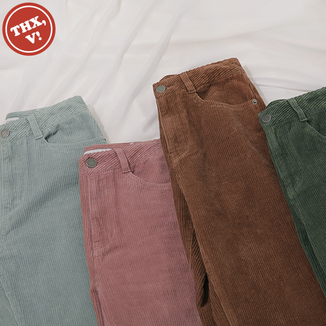 [THX,V] NO.906 Corduroy Straight-Leg Pants