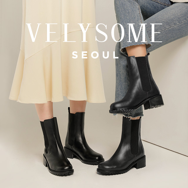 [VELYSOME] Round Toe Chelsea Boots
