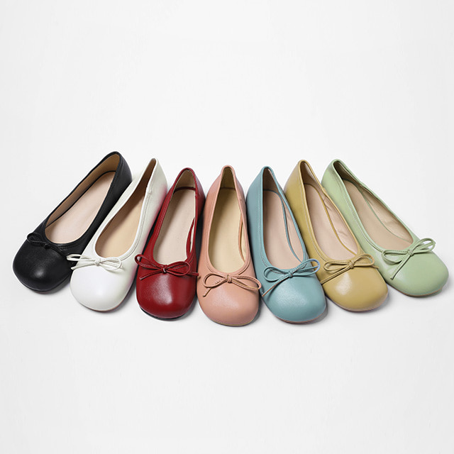 Rounded Square Toe Flats
