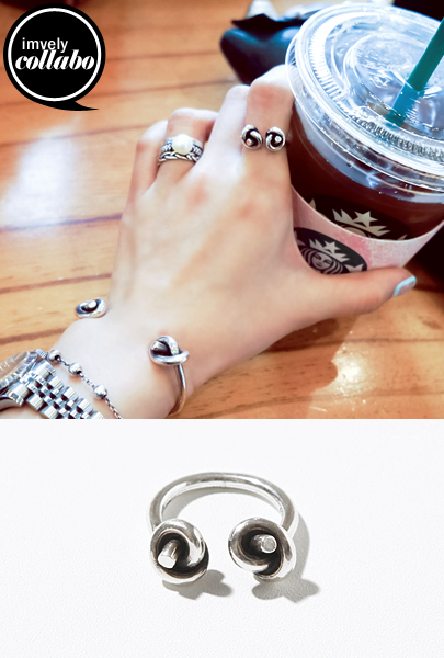 [IMVELY X IMFRICA] Knot Silver Tone Ring
