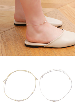 Metallic Ball Anklet