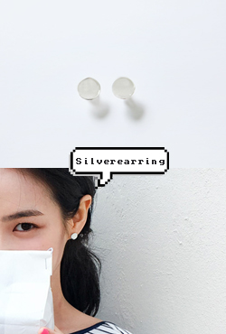 Disc Silver Stud Earrings