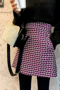 Patterned A-Line Mini Skirt