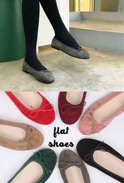 Ribbon Accented Ballet Flats