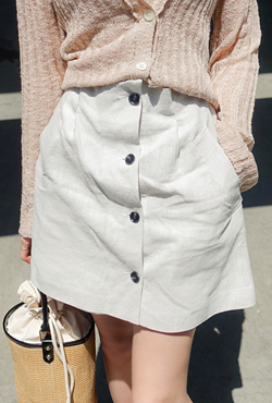 Button-Front Mini Skort