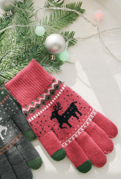 [WINTER VELY] Christmas Themed Knit Gloves
