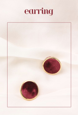Disc Suede Stud Earrings