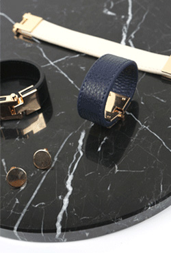 Gold Plated Leather Bracelet