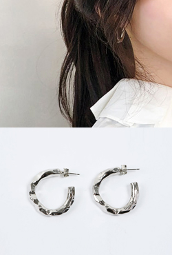 Hammered Texture Circle Earrings