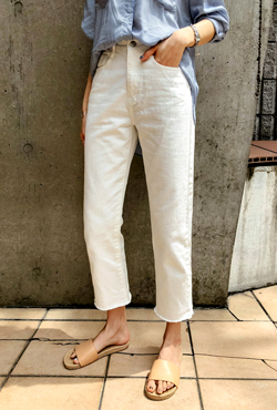 Cropped Straight Cut Pants